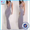 Yihao 2015 wholesale latest design women sexy grey deep plunge tab side night maxi dress