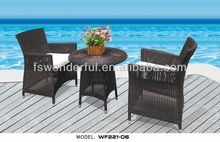 WF221-06 outdoor rattan cafe table chair set