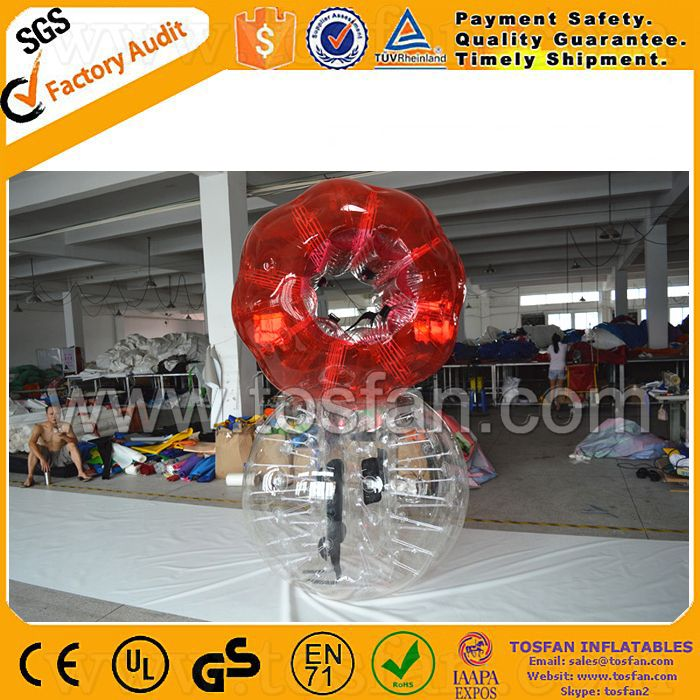 Fast shipping inflatable running body suit clear bubble balls TB152