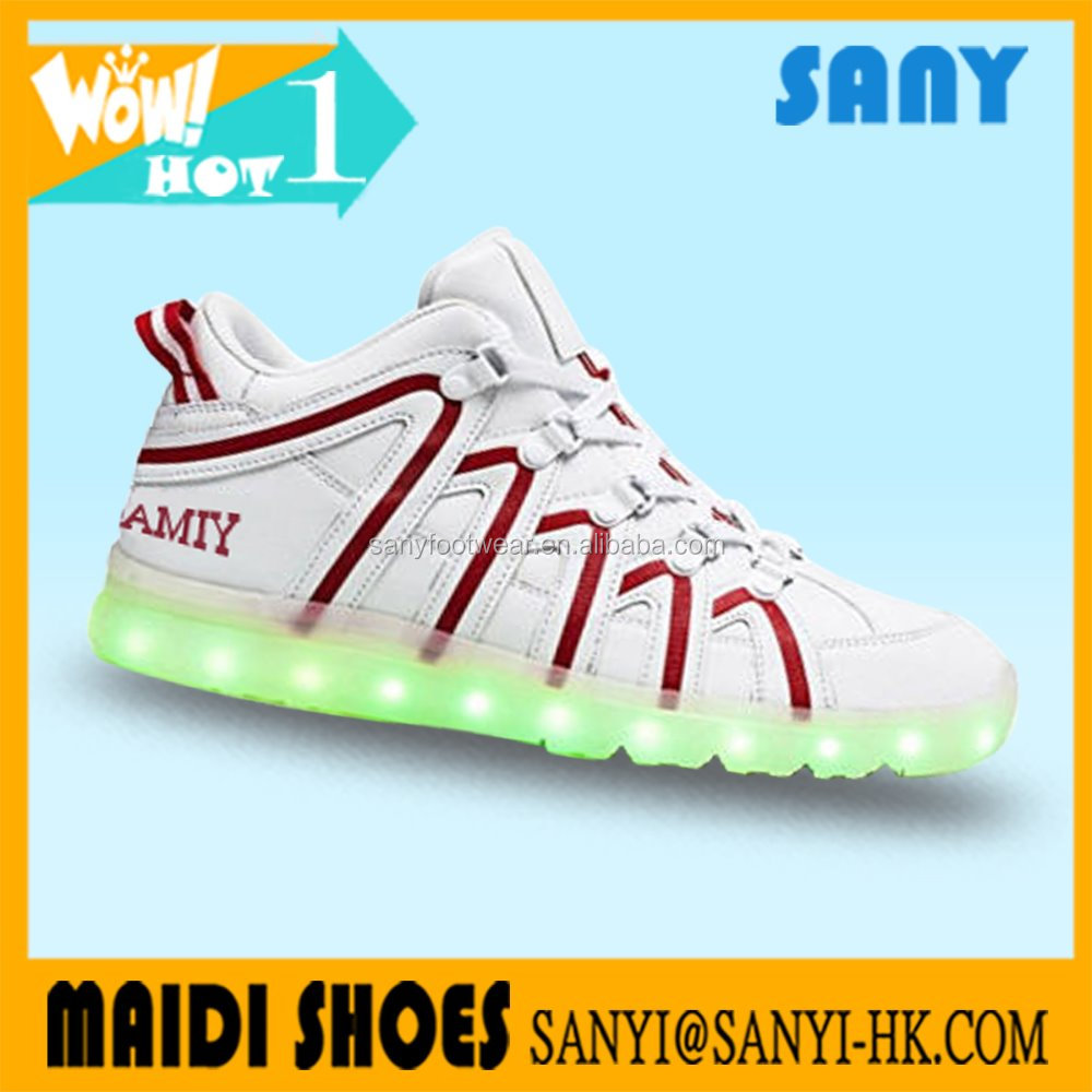2017 New style jinjiang custom latest luminous shoes sport casual shoes
