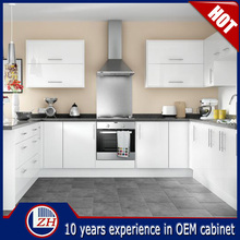ZHIHUA manufacture customized high gloss white kitchen cabinet