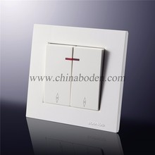 European wall switch with led indicator light