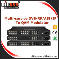 QAM6248 best qam modulator up to 16 ASI or 8*RF dvb-s QPSK to 4 QAM Modulator built-in multiplexer scrambler