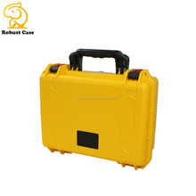 Heavy Duty Hard plastic Case Electronics Instrument Carrying Case with handle and foam