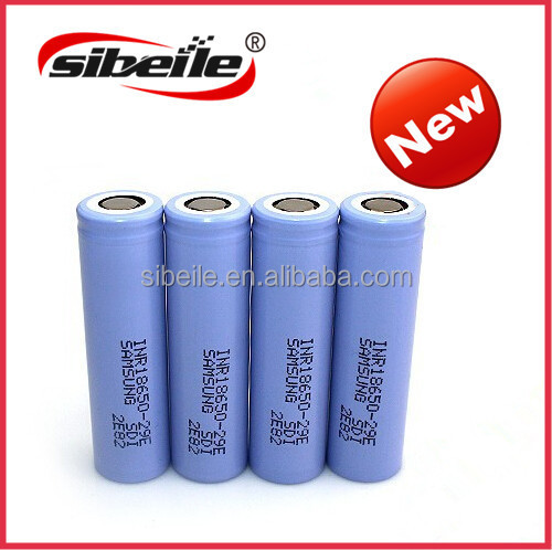Cylindrical Samsung 29e 18650 3.7v lithium ion battery/wholesales Samsung INR18650-29E 2900mah 10amp li ion battery