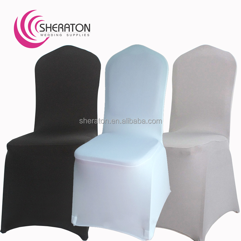 factory price lycra universal garden spandex chair covers / stretch fitted chair cover for banquet wedding decoration wholesale