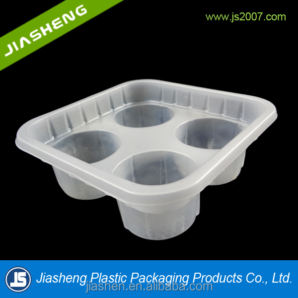 2017 Free Sample Food Grade Disposable Plastic Clear Cookie Tray