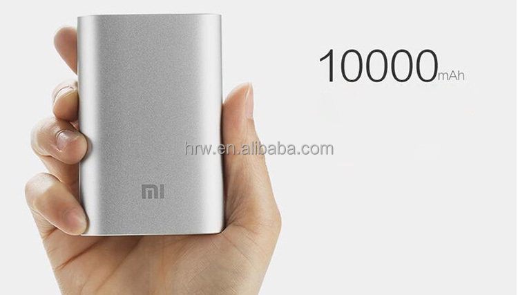 Original Xiaomi Portable 10000mah backup Power Bank For MI Android Mobile iPhone Samsung iPad