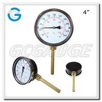 High quality black steel dial pipe thermometer