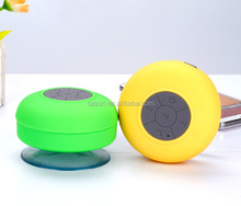 Bluetooth Speaker Waterproof Mini Wireless bluetooth Speaker/Micro USB Slot Mushroom Silicone Suction Cup