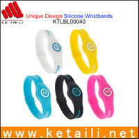 Beautiful design colorful sport silicone bracelet for promotion gift