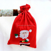 Nonwoven material Drawstring style christmas gifts bag supplier