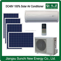 Cost-saving split solar system air conditioner with solar power