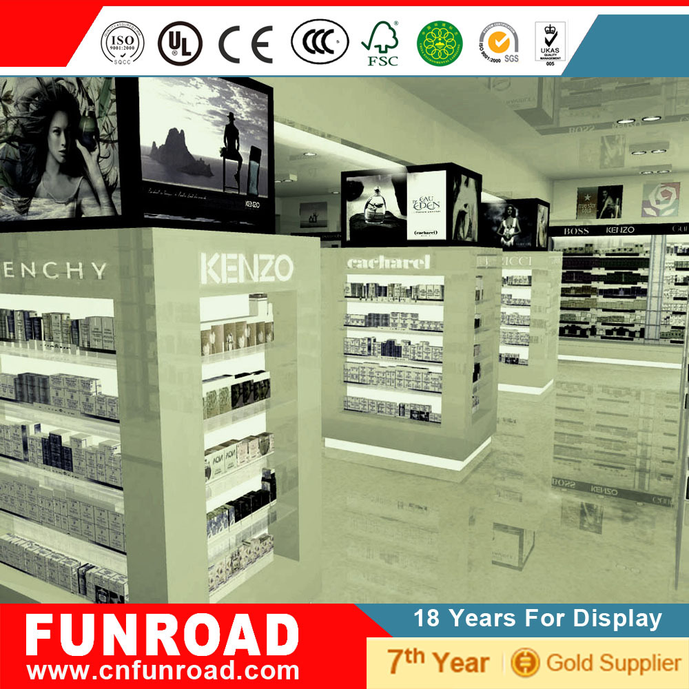 Funroad Perfume display kiosk for shopping mall use