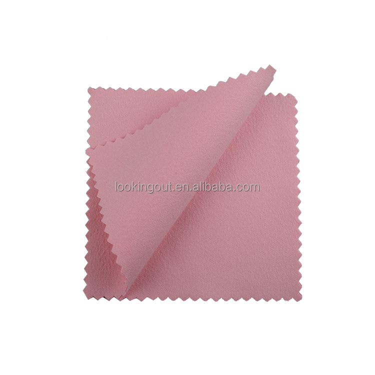 advertisement custom made pink microfiber cleaning cloth