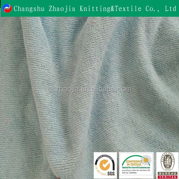 china knitting textile factory 100 polyester cotton towel feel fabric