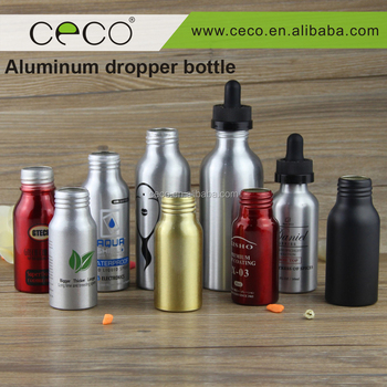 New arrival 30ml 50ml 60ml 100ml 120ml aluminum dropper bottle with childproof cap for Eliquid and E-juice