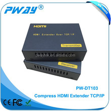 Best TCP/IP 120m RX TX HDMI ethernet extender over ca5e/6 support one to many application and IR control