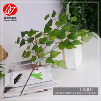 150780 cheap wholesale classical home office church decorating evergreen fake fabric artificial tree branches mulberry leaf