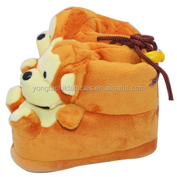 monkey character first walkers wholesale baby moccasin shoes