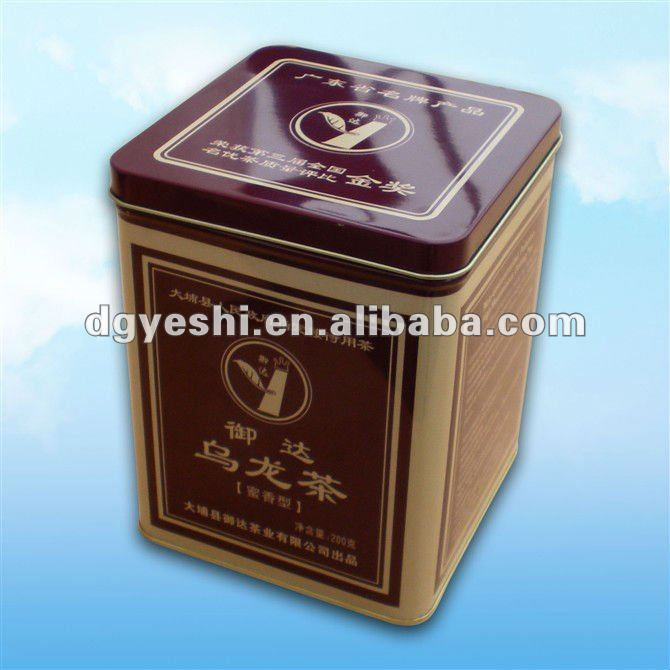 Customized tea tin can