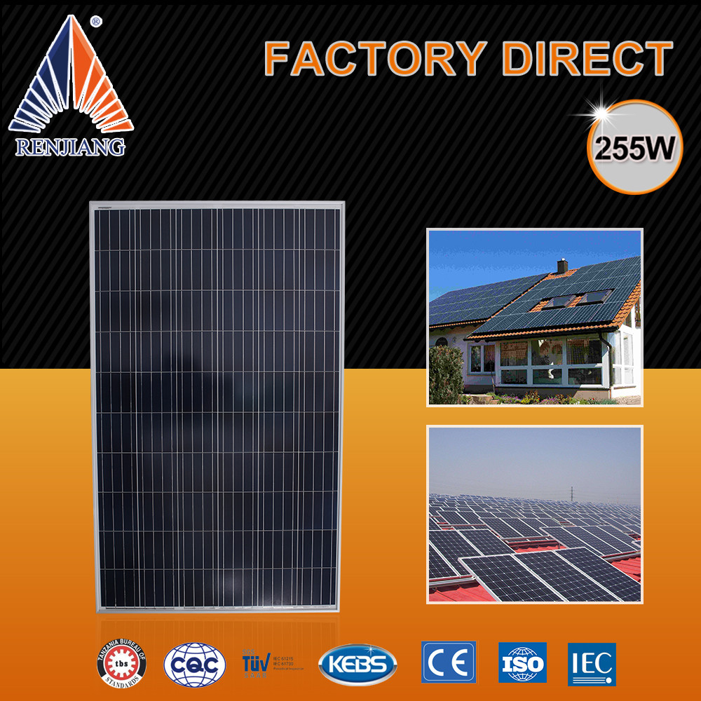 Pv The Solar Panels Sri Lanka,255W Low Price Per Watt Solar Panels In India