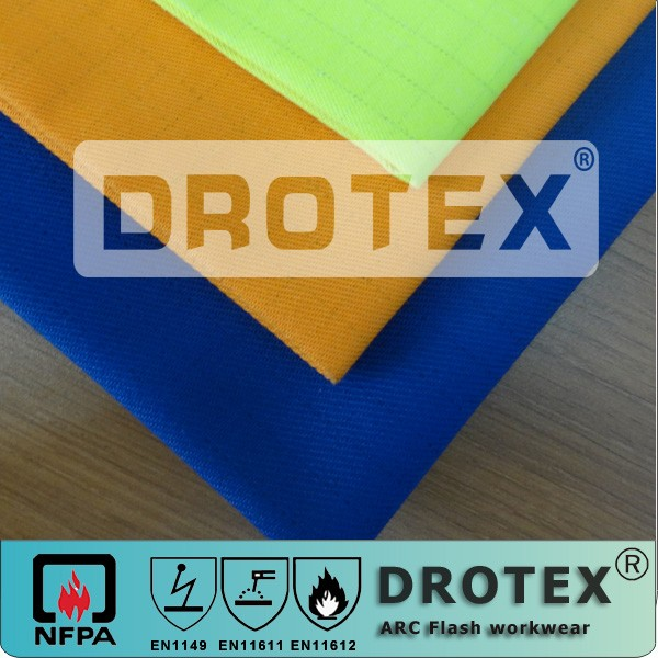 flame fire retardant fireproof cotton fabric for workers lowest formaldehyde ppm