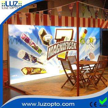 Large light display boxes,large backlit fabric display light box