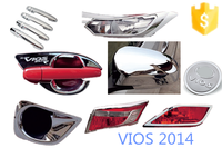 TOYOTA VIOS 2014 full set chrome accessories 23 pcs/set toyota vios parts car accessories Trade assurance supplier wholesale