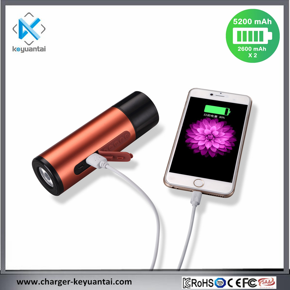 5V 1A 5200mAh Power Bank with LED light Bluetooth Speaker Portable Wireless Power Bank Speaker