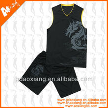 Fashion design Popular ecological stretchable anti-bacterial basketball jersey wear