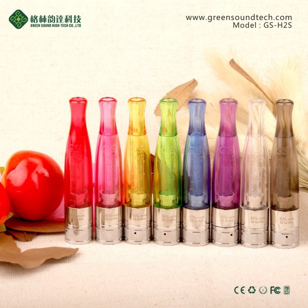 New arrival GS 1.5ml H2S dual heating clearomizer bottom coil clearomizer bcc atomizer