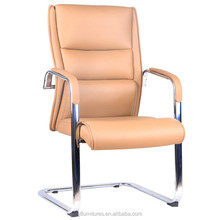 Sled base boss executive modern computer luxury leather high back office chair
