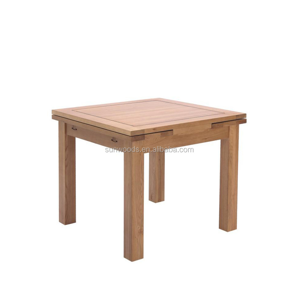 Quality reclaimed wood solid wood square slab dining tables