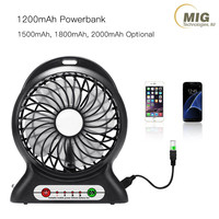 1200mAh Rechargeable Power bank handheld mini fan Multipurpose Portable Outdoor Travelling USB Fan Desktop Fan China Factory