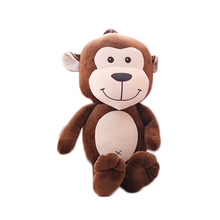 Hot selling beautiful and warm super soft cute popular childred's gift stuffed plush brown monkey toy doll
