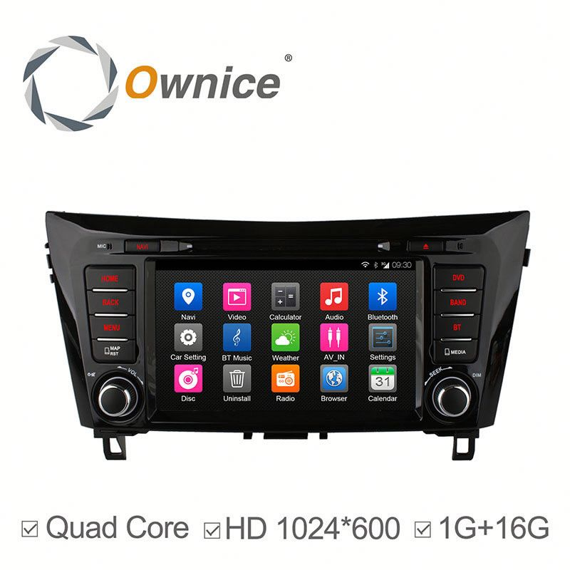 Ownice quad core Android 4.4 auto radio for Nissan X-Trial 2014-2015 built in wifi BT RDS