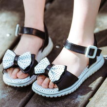 TSW8374 Fancy bow korean little girls platform summer sandals