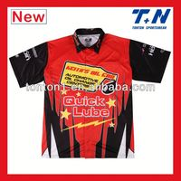 wholesale custom sublimation motorcycle pit crew polo shirts