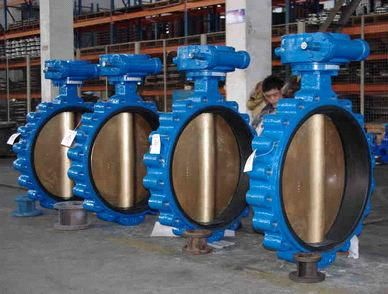 worm gear box Drive butterfly valve