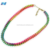 2012 New Fashion Lady Women metal wire wrap Necklace 3 Colors New Style Hot Sale