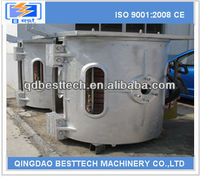 1200kw melting induction furnace, aluminum melting furnace, copper smelting process