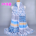 High quality cotton printed flower scarf women wrap hijab headband muslim long scarves/scarf GBS236