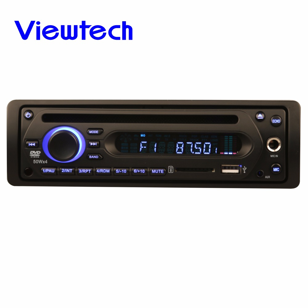 Single Din Bus DVD player 12-24V with Mic Jack, support 500G hard disk