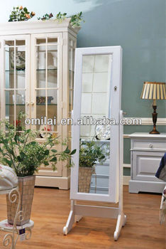 OMILAI classic home Decor Mirror armoire Jewelry Storage