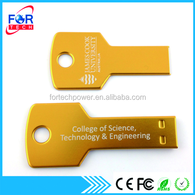 Xmas Happy Gifts Promotional Key Pendrives Gift Ultra Slim USB 2.0 USB Key Flash Drive 16GB