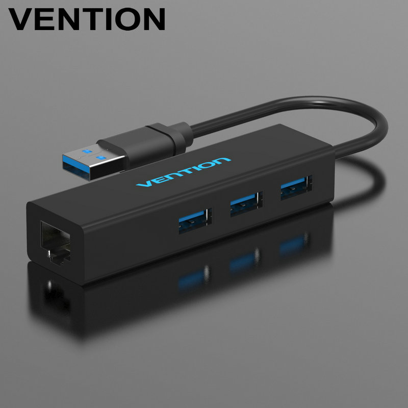 Vention Newest USB 3.0 To RJ45 Lan Network Ethernet USB HUB