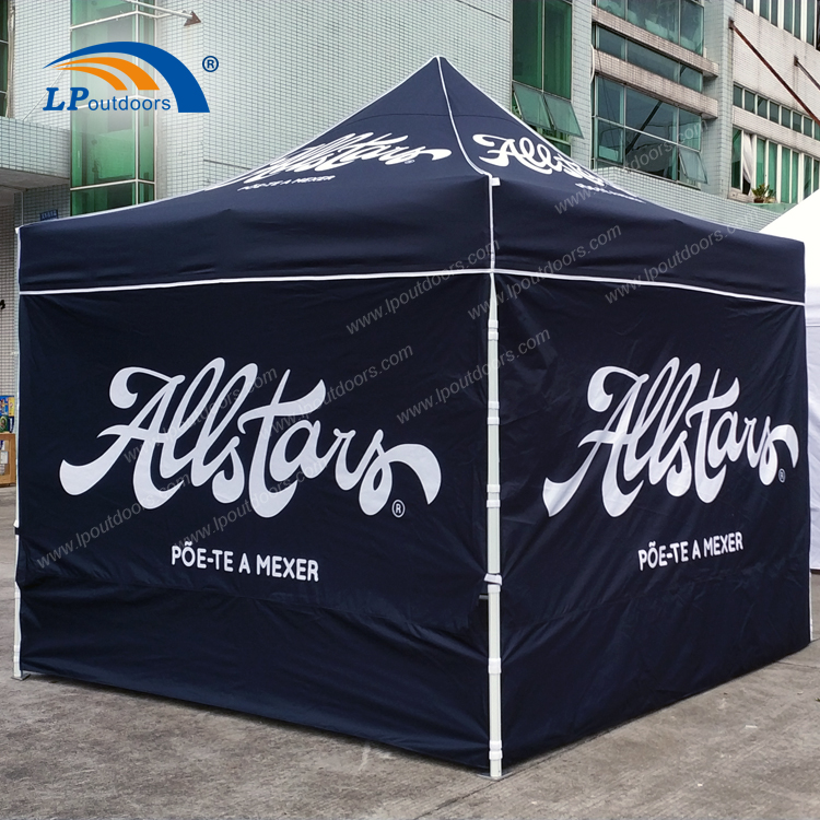 10x10' Black advertising folding canopy gazebo tent