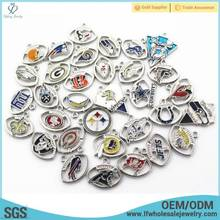 Fashion 32 NFL teams charms mental football Sports charms for bracelet