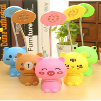 HOMEAN New Arrival Cartoon Style Changeable LED Lamp Night Light Eye Protection Table Lamps